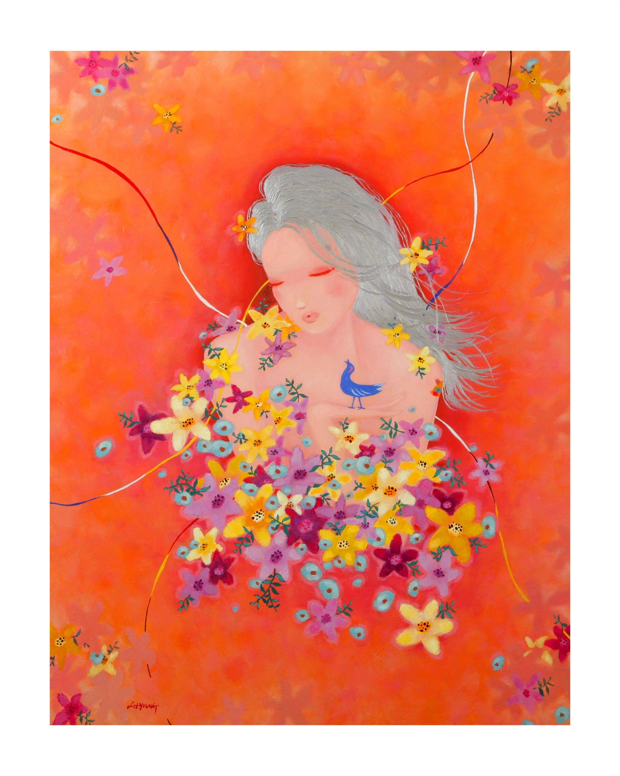 Hye Yeong Lim 07 임혜영116.8X91cm제목-Flora-3 재료-Oil on Canvas 2021 copy